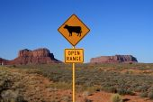 Open Range Sign