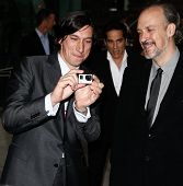 NEW YORK-SEP 27: Actor Adam Driver (L) and New York Film Festival Director of Programming & Selection Committee Chair Kent Jones seen filming