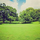 foto of kensington  - Vintage looking The Kensington Gardens and Hide Park London UK - JPG