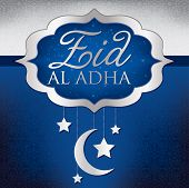 pic of eid al adha  - Hanging decoration Eid Al Adha card in vector format - JPG