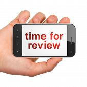 Timeline concept: Time for Review on smartphone