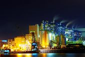 picture of fumes  - power station at night - JPG