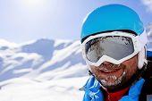 Ski, skier, winter sport - portrait of  skier