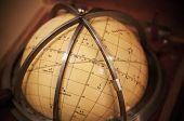Vintage Travel Star Sky Globe In Wooden Box