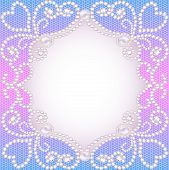 Wedding Background With Frame Ornament With Pearls And Precious Stones