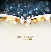foto of bowing  - Christmas background with bow - JPG