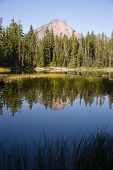 Four Mile Lake Mount Mcloughlin Klamath County Oregon Cascade Mountains