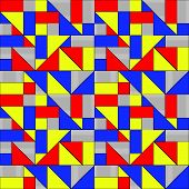 Geometric Squares and Triangles Pattern