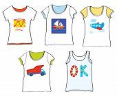 T-shirts design for kids with toys