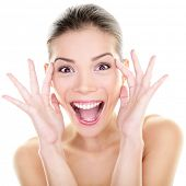 stock photo of screaming  - Beauty  - JPG