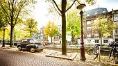 A Street In Amsterdam In The Fall