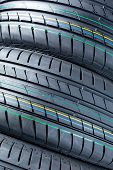 Closeup Of Summer Car Tires
