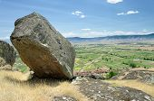 parallelepiped rocky block in Marko's Towers In Prilep, Republic of Macedonia