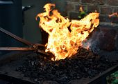 Blacksmith At Working Process