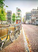 An Empty Street In Amsterdam