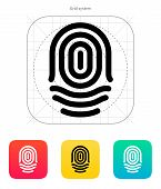 Fingerprint whorl type icon.