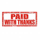 Paid With Thanks-stamp