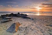 Pôr do sol na praia do Atlântico