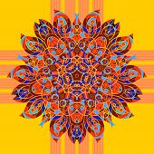 Seamless floral orient pattern in pastel colors. Mandala oriental
