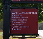 University Directional Sign