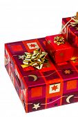 pic of superimpose  - several parcels of gifts for christmas are superimposed - JPG