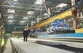 industrial interior of house-building plant factory workshop enterprise