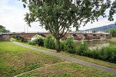 Ancient Roman Bridge In Trier
