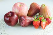 Apple Strawberries And Rose Apple