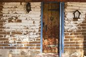 Adobe Wall Vintage Door