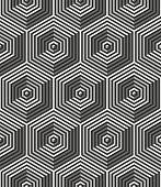 Seamless art deco background:optical illusion