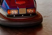 picture of trailer park  - Photo of a dodgem car in the amusement park - JPG