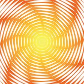 Design Sunny Swirl Motion Illusion Background. Abstract Strip Torsion Colorful Backdrop