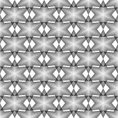 Design Seamless Monochrome Geometric Latticed Pattern. Abstract Diamond Lines Textured Background