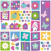 Colorful birthday pattern