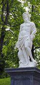 The Statues Of Poseidon In Peterhof