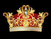 pic of crown jewels  - illustration of royal gold crown with jewels - JPG