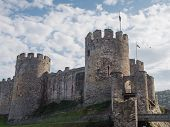 Exterior of Conwy Castle, Wales