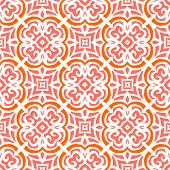 Art deco pattern with organic floral shapes