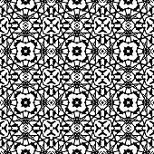 Vector art deco pattern in black and white