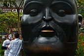 Botero Sculpture Head