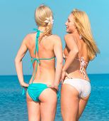 picture of denude  - Relaxating Enjoying on a Beach  - JPG