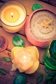 Spa Concept Sea Sand Shell Scented Candles