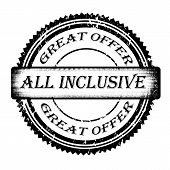 pic of all-inclusive  - Grunge rubber stamp with text all inclusive inside vector illustration - JPG