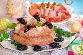White Sausage With Prunes For Easter