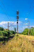 Train Lights at a railway (semafor)