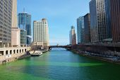 The east end of the Chicago River.