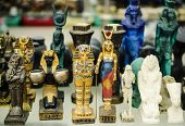 Traditional ancient Egyptian statues