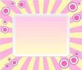 Pink retro frame with circles