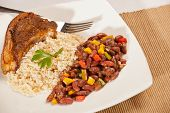Red Beans and Rice with Pork Chops