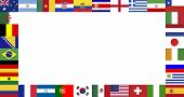 World Cup Final 2014 Flags Frame